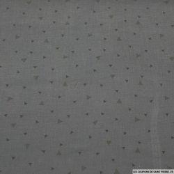 Double gaze gris anthracite triangle tons sur tons