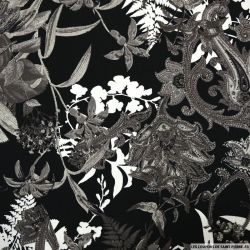Satin de coton élasthane imprimé versailles