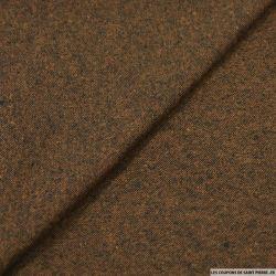 Toile polycoton chiné brune
