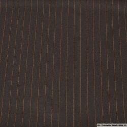 Tissu Tailleur rayures costume fauve fond brun