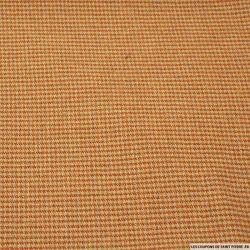 Laine mélangée pied de puce orange et beige