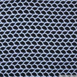 Viscose imprimée torsades fond noir
