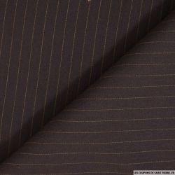 Tissu tailleur rayures tennis bleu fond café