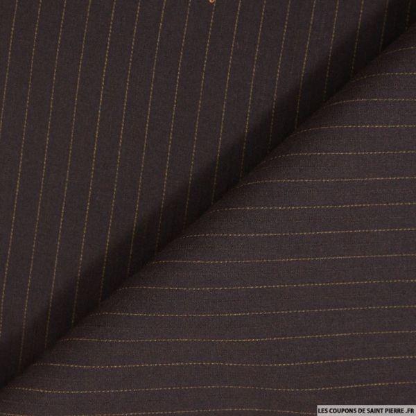 Tissu tailleur rayures tennis bleu fond wengé