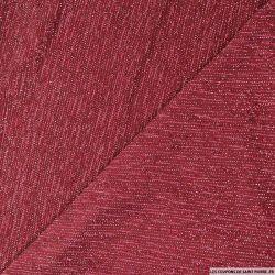 Jersey pailleté rouge rubis