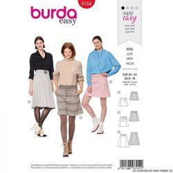 Patron Burda n°6154: Jupe évasée femme