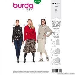 Patron Burda n°6156: Veste et gilet ample