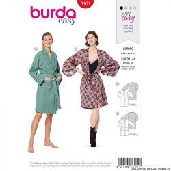 Patron Burda n°6161: Kimono ceinturé femme