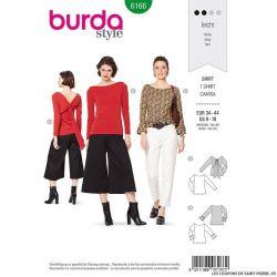 Patron Burda n°6166: T-shirt manches longues femme