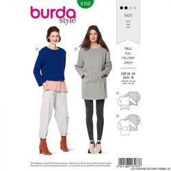 Patron Burda n°6168: Pullover et robe pull femme