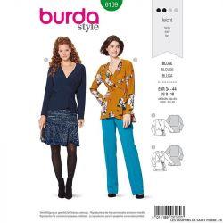 Patron Burda n°6169: Blouse portefeuille nouée femme