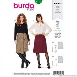 Patron Burda n°6174: Jupe à rabat femme