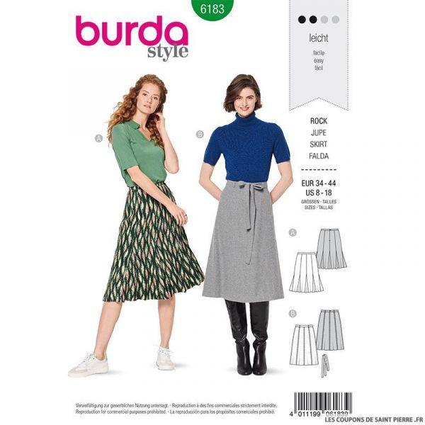Patron Burda n°6183: Jupe à godet femme