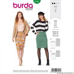 Patron Burda n°6184: Jupe crayon à fente femme