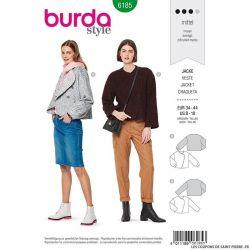 Patron Burda n°6185: Veste lainage avec large rabat femme