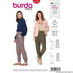 Patron Burda n°6188: Pantalon de jogging élégant femme