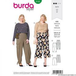 Patron Burda n°6193: Pantalon cargo femme