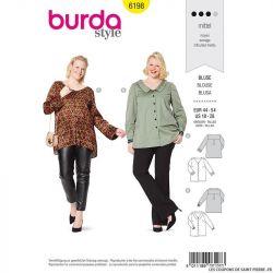 Patron Burda n°6198: Blouse avec boutonnière femme