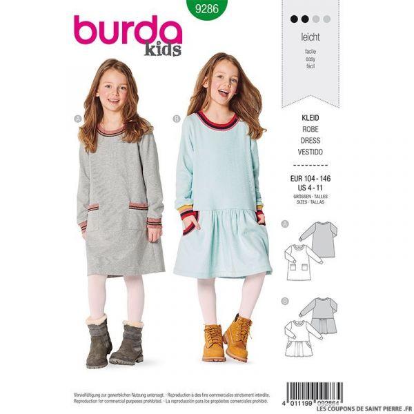 Patron Burda n°9286: Robe à poches enfant