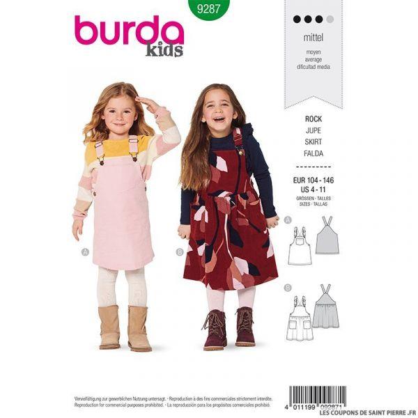 Patron Burda n°9287: Robe salopette enfant