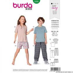 Patron Burda n°9288: Pyjama coordonné enfant