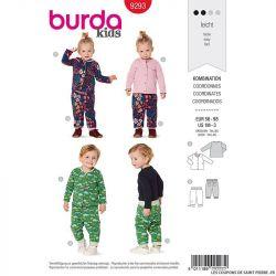 Patron Burda n°9293: Top col rond et pantalon coordonné enfant