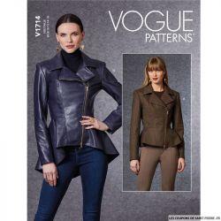 Patron Vogue V1714 : Veste moulante