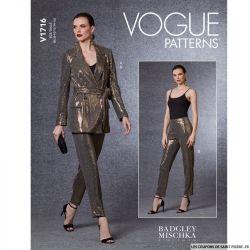 Patron Vogue V1716 : Blazer croisé
