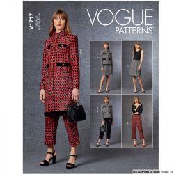 Patron Vogue V1717 : Veste, jupe et pantalon