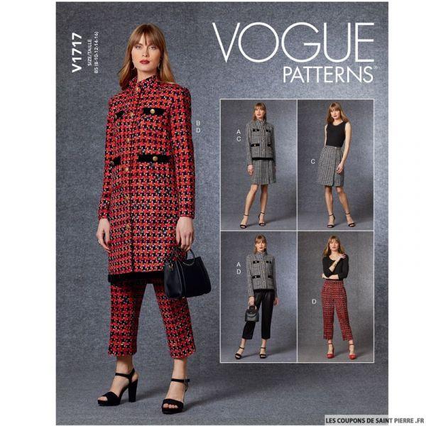 Patron Vogue V1717 : Jupe portefeuille