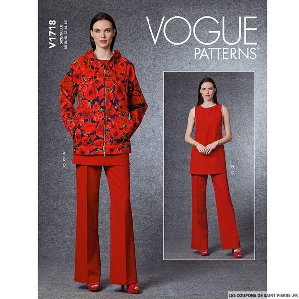 Patron Vogue V1718 : Veste à manche raglan