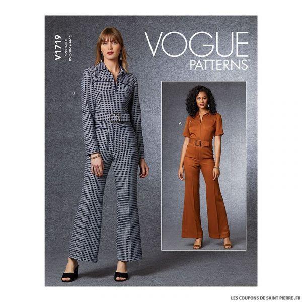 Patron Vogue V1719 : Combinaison moulante