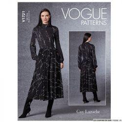 Patron Vogue V1721 : Robe moulante