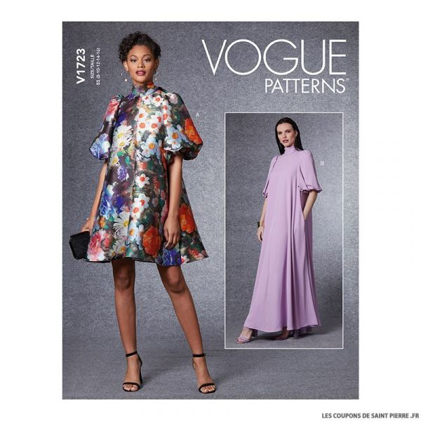 Patron Vogue V1723 : Robe ample