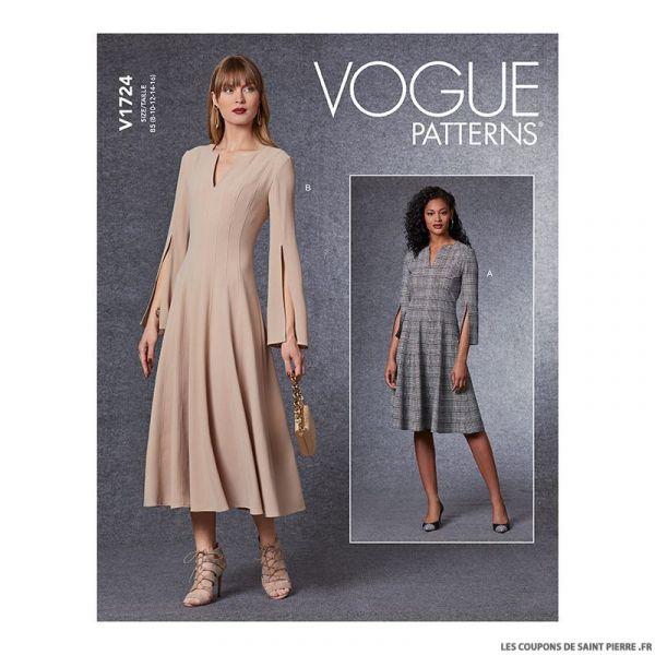 Patron Vogue V1724 : Robe à fermeture