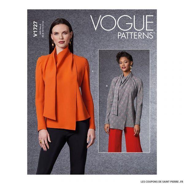 Patron Vogue V1727 : Chemisier