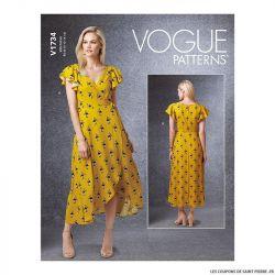 Patron Vogue V1734 : Robe ajustée