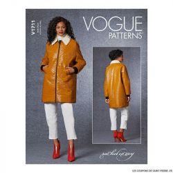 Patron Vogue V1711 : Veste doublée