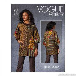 Patron Vogue V1712 : Veste patchwork