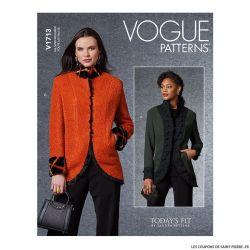 Patron Vogue V1713 : Veste à poches
