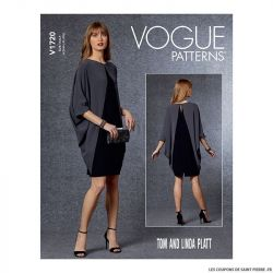 Patron Vogue V1720 : Robe chauve-souris