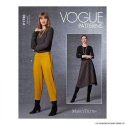 Patron Vogue V1730 : Jupe asymètrique