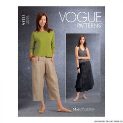 Patron Vogue V1731 : Jupe ample
