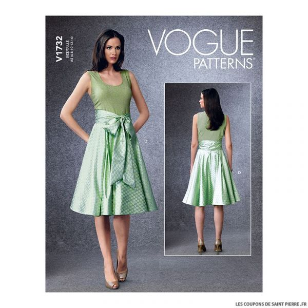 Patron Vogue V1732 : Robe