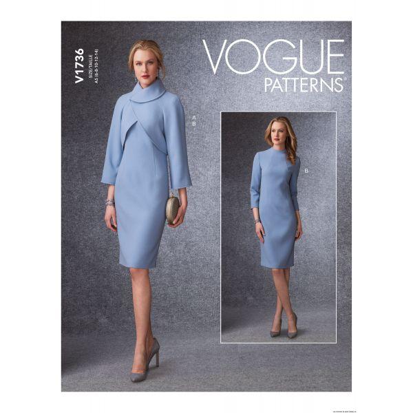 Patron Vogue V1736 : Veste ajustée