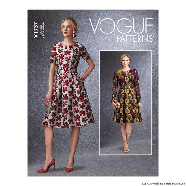 Patron Vogue V1737 : Robe ajustée