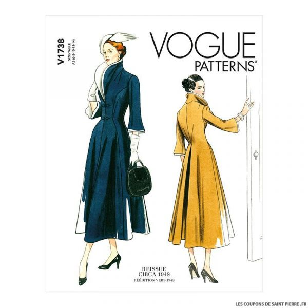 Patron Vogue V1738 : Robe moulante