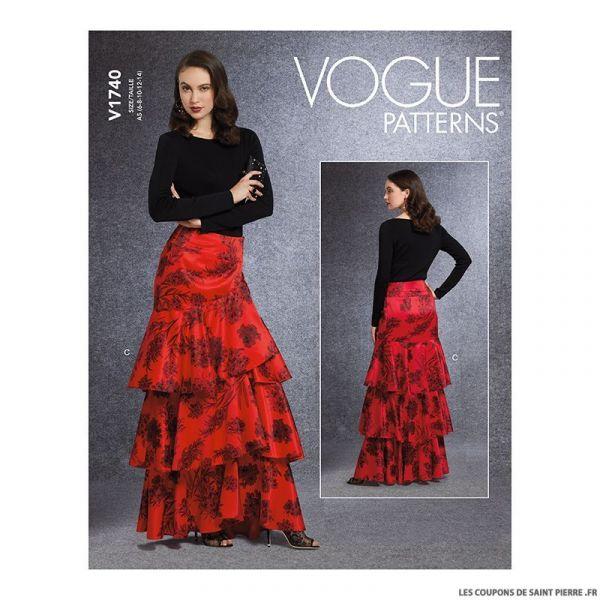 Patron Vogue V1740 : Jupe portefeuille