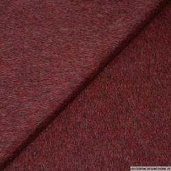 Laine mohair tricot poils bordeaux
