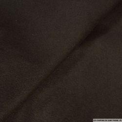 Velours de laine marron foncé